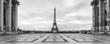 canvas print picture - Place du Trocadero Panorama mit Eiffelturm, Paris, Frankreich