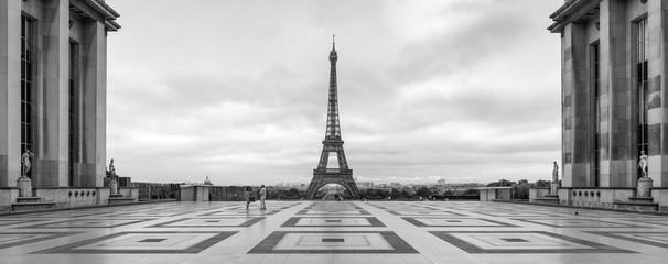 Place du Trocadero Panorama mit Eiffelturm, Paris, Frankreich