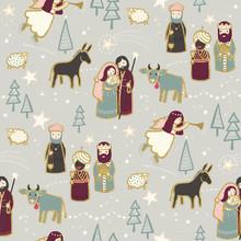 Christmas Nativity Seamless Re...