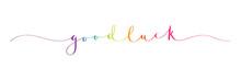GOOD LUCK Brush Calligraphy Banner