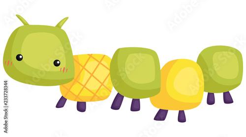 Cuadros en Lienzo a vector of a cute and adorable caterpillar