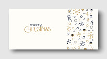 Merry Christmas Greeting Card Or Poster With Abstract Winter Pattern.