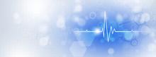Medicine Heart Beat Blue Banner