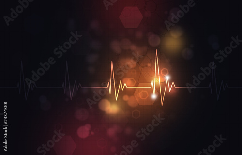 Abstract Heartbeat Illustration Wallpaper Mural