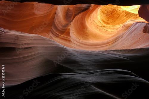 Inside Antelope Canyon at Navajo Nation. Page, Arizona, USA.