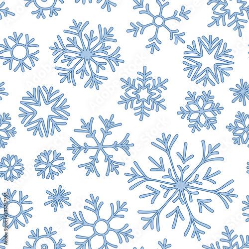 Stoffe zum Nähen Christmas seamless doodle pattern