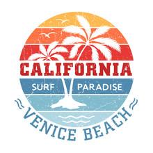 Venice Beach California - Tee Design For Printing