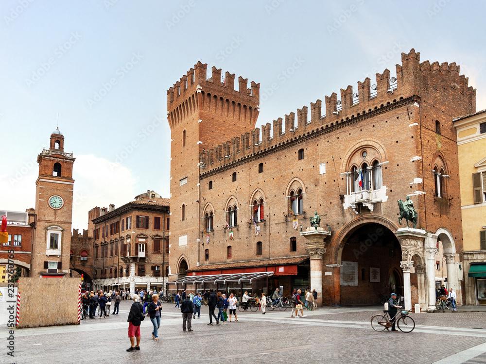 Fototapety, obrazy: Ducal Palace Ferrara Emilia-Romagna. Italy