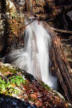 Waterfall At Anna Ruby Falls Near Helen Georgia USA