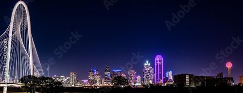 Poster Texas Dallas Skyline Cityscape