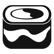 Ebi Sushi Icon. Simple Illustration Of Ebi Sushi Vector Icon For Web Design Isolated On White Background