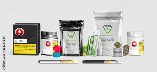 Fotografie, Obraz  Marijuana Products - Medical Cannabis