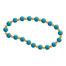 Blue Pearl Necklace Icon. Cart...