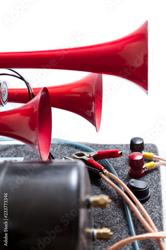 Photo  Pneumatic horn with red beeps