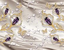 3D Wallpaper, Jewelry  Calla L...