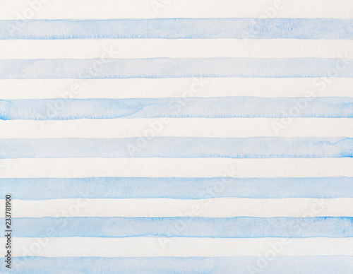 Foto  Watercolor of blue and white stripes
