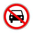 zakaz dla samochodów