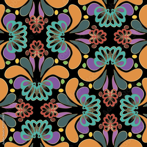 Fotografija  Colorful abstract Paisley seamless pattern