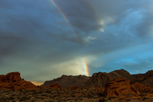Rainbow Over Red Mountains