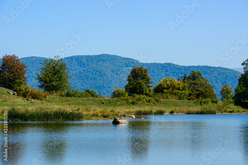 Beautiful landscape with Tsover lake and forest, Armenia