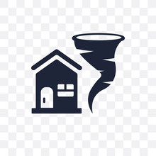 Insurance For Home Of Tornado Transparent Icon. Insurance For Home Of Tornado Symbol Design From Insurance Collection. Simple Element Vector Illustration. Can Be Used In Web And Mobile.