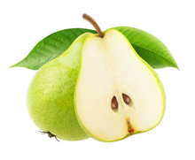Isolated Pears. One And A Half...