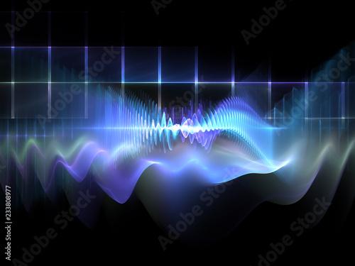 Fotobehang Fractal waves wave propagation in cyberspace