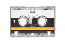 Microcassette Isolated On White