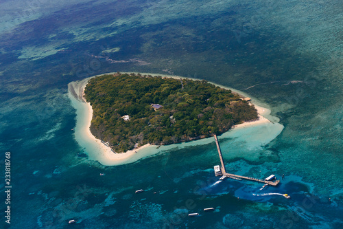 Canvas Print Small island of he barrier reef, Cairns-Australia