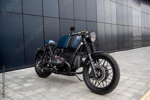 Photographie Vintage rebuilt motorcycle motorbike caferacer