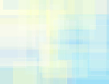Subtle Geometric Background With Cream And Pale Blue Rectangles. Vector