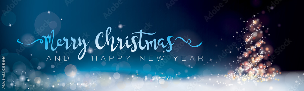 Fototapeta MERRY CHRISTMAS AND HAPPY NEW YEAR_BANNER