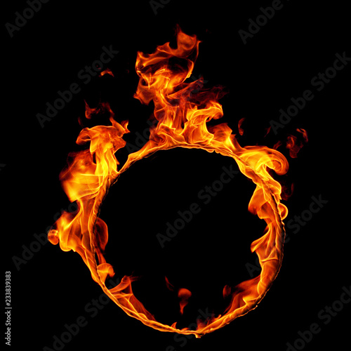 Photo Stands Fire / Flame fire on black background