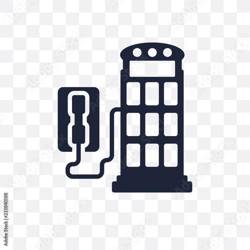 Fotografie, Obraz  Phone booth transparent icon