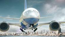 Airplane Take Off Seattle Washington USA