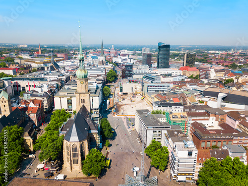 Photo  Dortmund city centre aerial view
