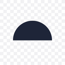 Semicircle Transparent Icon. Semicircle Symbol Design From Geometry Collection.