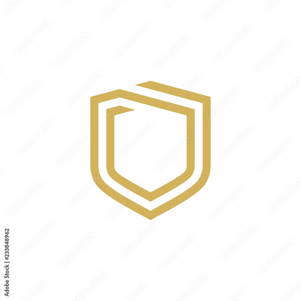 Fotografie, Obraz Modern Shield logo design template