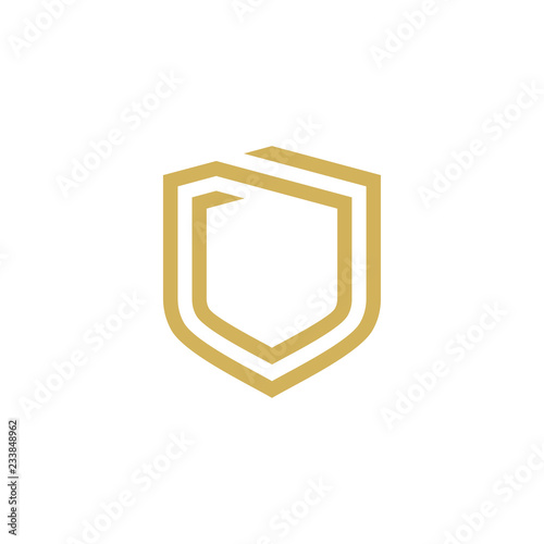 Valokuva Modern Shield logo design template