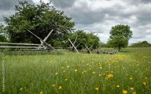 Civil War fence at New Market battlefield in Virginia Fototapet