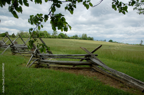 Fotografie, Tablou  Civil War fence at New Market battlefield in Virginia