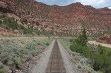 Railroad Through The Mountains