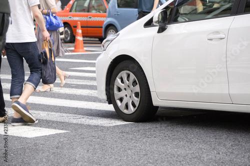 横断歩道 自動車 Tapéta, Fotótapéta