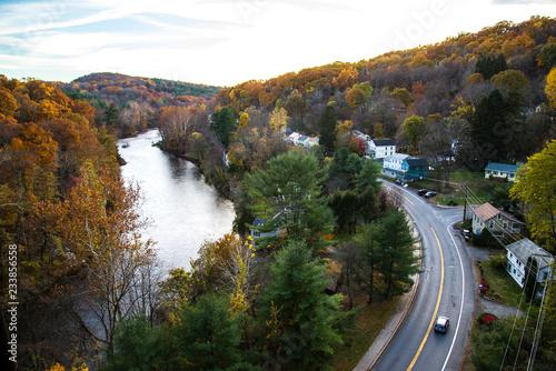 Obraz na plátne road in autumn
