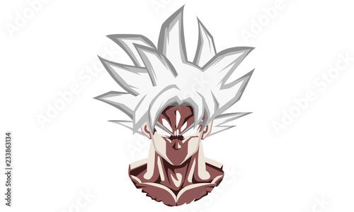 Photo  Ultra Instinct Goku Vector Portrait
