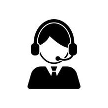 Customer Care, Service, Contact Icon Vector