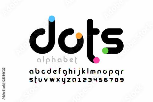 Papel de parede Modern font design, trendy alphabet letters and numbers