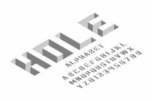 Isometric 3d Font Design, Thre...