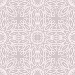 Decorative colorful ornament with round mandala decoration. symmetric seamless pattern . For print Bandanna, shawl, tablecloth, fabric fashion, scarf, design