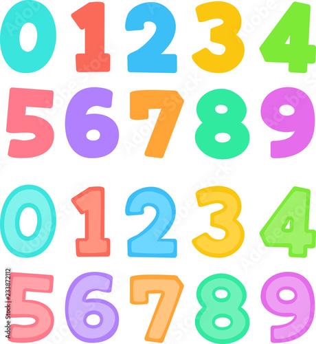 Cuadros en Lienzo カラフルな数字のイラスト